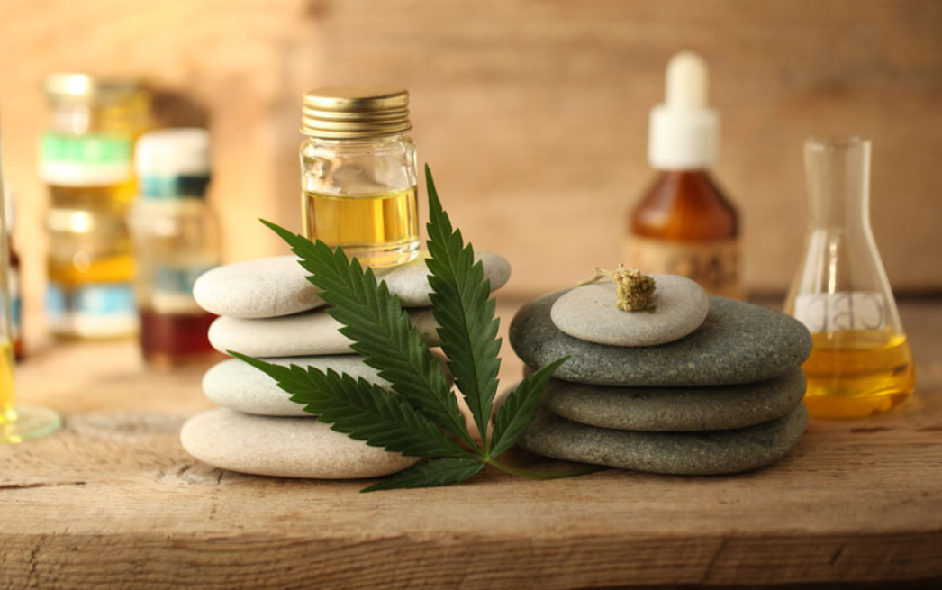 This image depicts the cannabis plant, the hemp plant, with the background showing the best CBD products. According to CannaSOS, the first documented use of hemp occurred over 4,600 years ago in China.