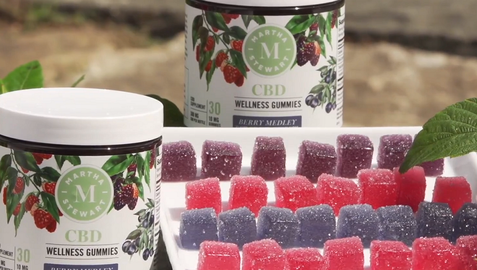 This image shows Martha Stewart new CBD product Berry Medley Wellness Gummy.